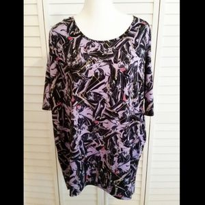 LuLaRoe Disney Maleficent Irma Dress Shirt NEW L